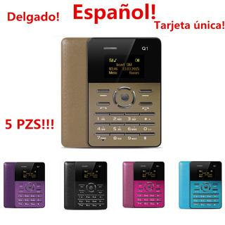 Aiek Q1 1,0 Pulgada Ultra Enrarezca Tarjeta Teléfono Fm Aud