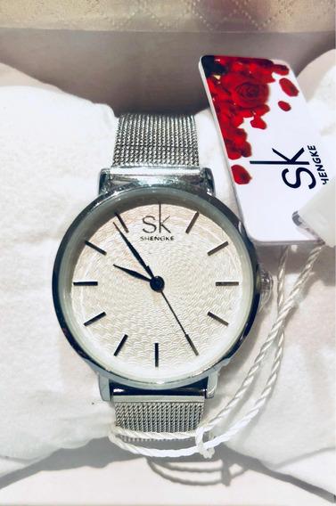 Relógio Feminino Shengke Top 3m K0006 A5 A P D