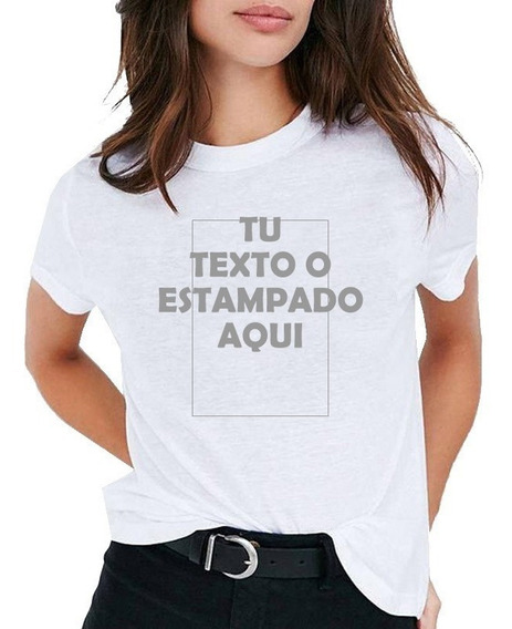 Remera Dama Con Estampa A Eleccion