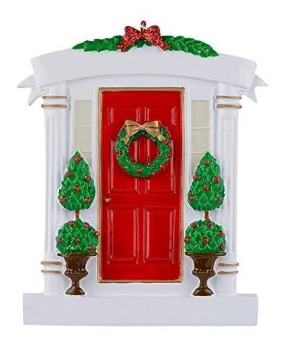 Imagen 1 de 7 de Rojo De Puerta Personalizado Navidad