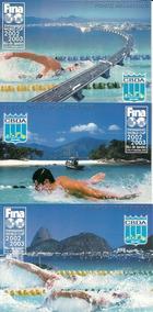 Turismo 2002 Bilhetes Postais Natação Bp 245 Bp 246 E Bp 247