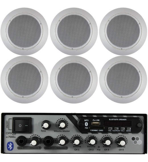 Kit Som Ambiente 4 Canal 500 Watts + 8 Caixa Br Red Gesso