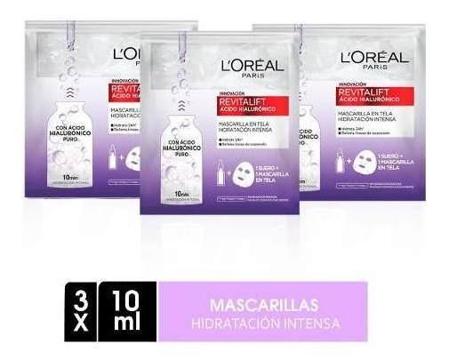 Pack 3 Mascarillas Revitalift Ácido Hialurónico L