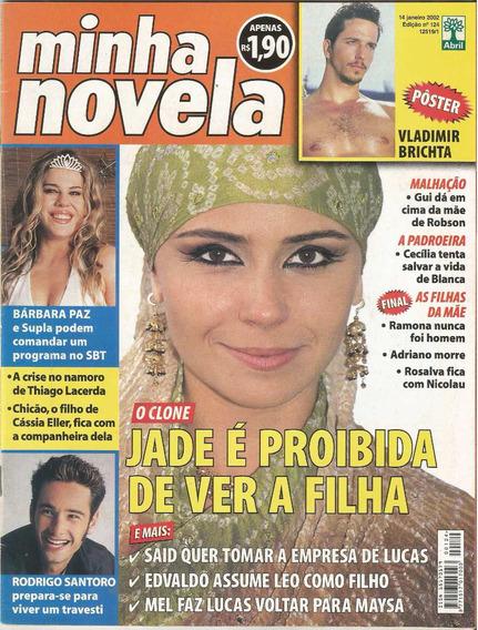 Revista Minha Novela 124 - Janeiro 2002 - Capa O Clone