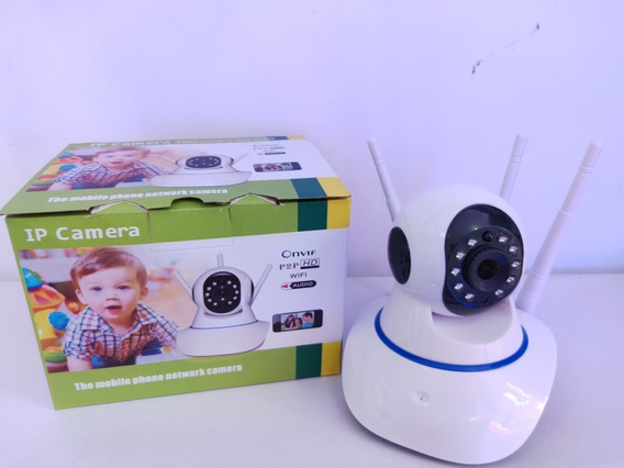 Câmera Ip Hd 720p 3 Antenas Noturna Wireless Wifi