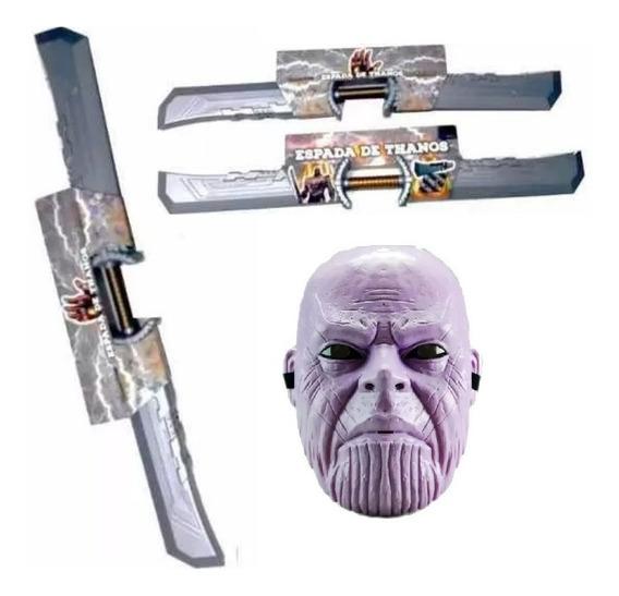 Combo Thanos! Espada + Mascara C/luz - 6 Cuotas S/int!