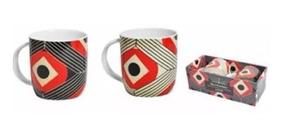 Jogo Canecas Porcelana 340ml Chá Café Arte Dynasty Rosenbaum