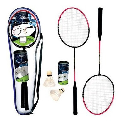 Kit Badminton Art Sport Com 02 Raquetes E 02 Petecas
