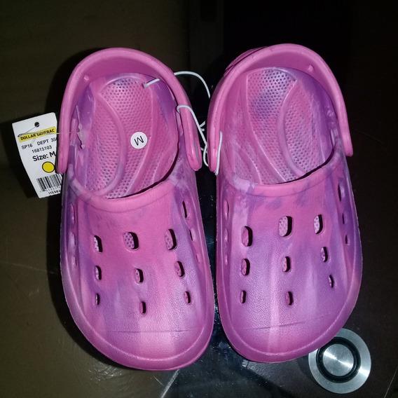 Sandalias Plásticas Moradas Importadas