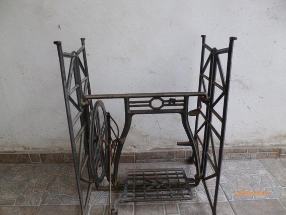 Pie De Maquina De Coser Industrial Antiguo De Fundicion
