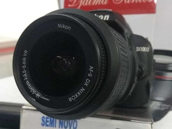 Câmera Nikon D3000 C/ 18-55 Mm