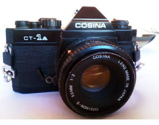 Cámara Fotográfica Cosina Ct-1a Lentes, Flash Y Correa