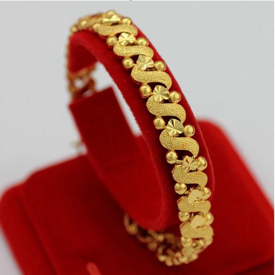 Pulseira Banhada Ouro 18k Finework Elegante Delicada