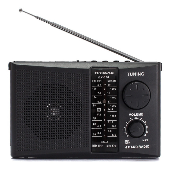 Rádio Portátil Recarregável Am Fm Usb Cartão Sd Pendrive Mp3