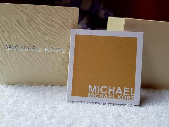 Caixa Estojo Original Michael Kors Em Madeira C/ Manual