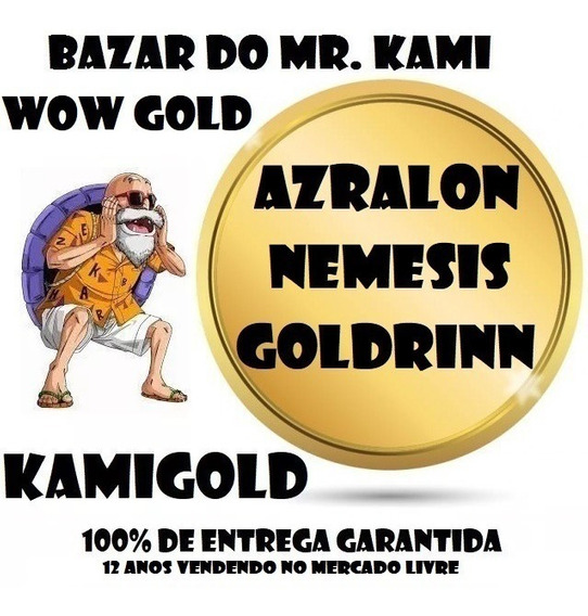 50k Gold Azralon Goldrinn Nemesis Ouro Wow