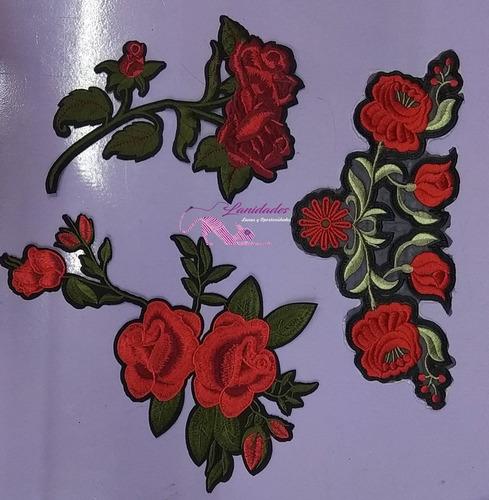 Parches De Flores Extra Grande X2