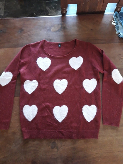 Sweter Mujer Con Corazones