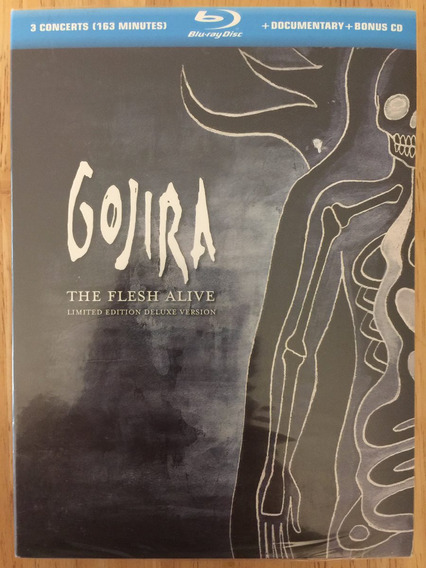 Blu-ray + Cd Gojira The Flesh Alive Limited Deluxe Version