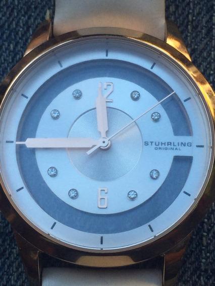 Reloj Stührling Para Dama. Mod. Ghl-l , Piedras Swarovski