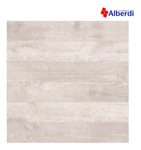 Porcelanato Concrete White Alberdi 62x62 Cemento Mate Liso