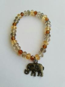 Pulsera Cristal Dije Elefante