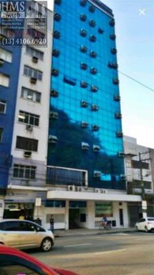 Sala Comercial No Centro De Santos - Mh19