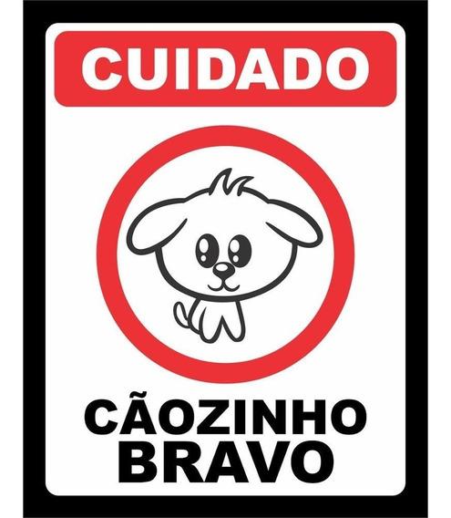 Placa De Parede Decorativa Cuidado Cãozinho Bravo Rcr Games