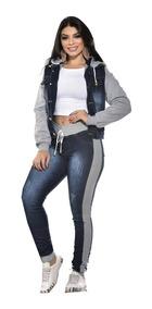Promoção Calça Jeans Com Moletom Moda Outono Inverno 2019