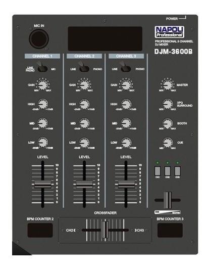 Napoli Mixer Super Dj Djm-3600b Cinza Pronta Entrega Dj