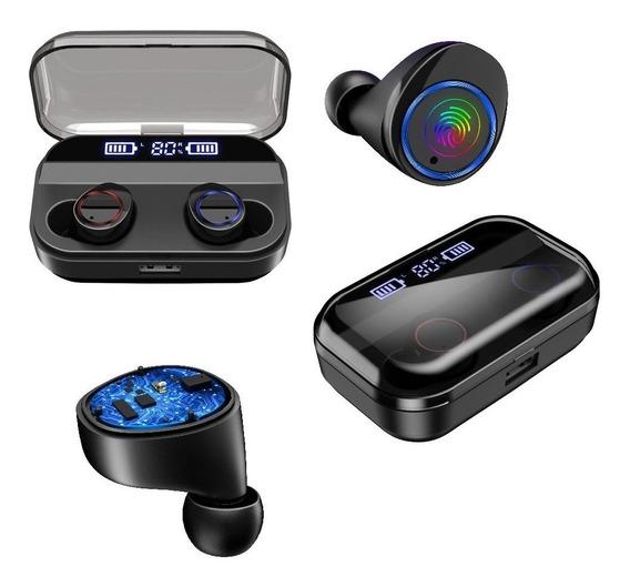 Audifonos Bluetooth 5.0 Sport Manos Libres Sumergibles Ipx7 Touch Powerbank 3500mah Con Indicador De Carga Y Descarga