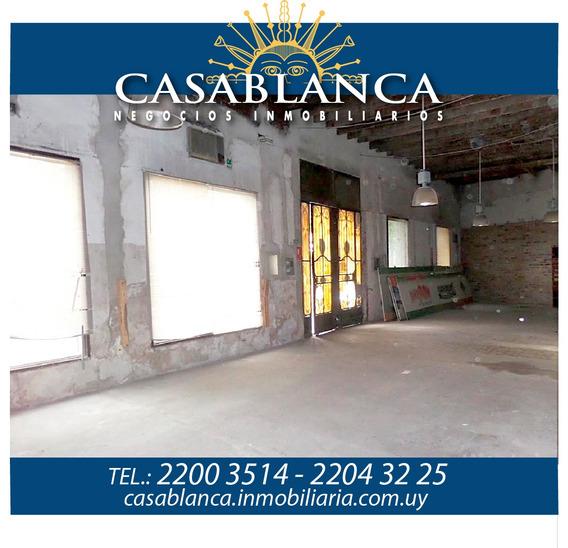 Casablanca - Hermoso Local Sobre Agraciada, 21mts De Frente