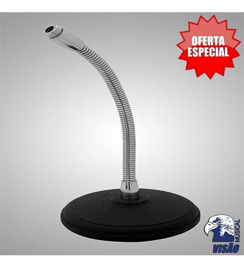 Pedestal P/microfone De Mesa Flexível Visão Ps4-f