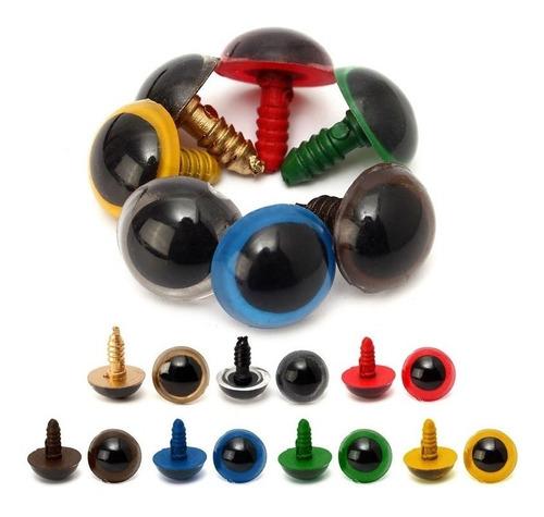 Imagen 1 de 3 de Ojos De Seguridad Mix Colores 16mm 50 Pares