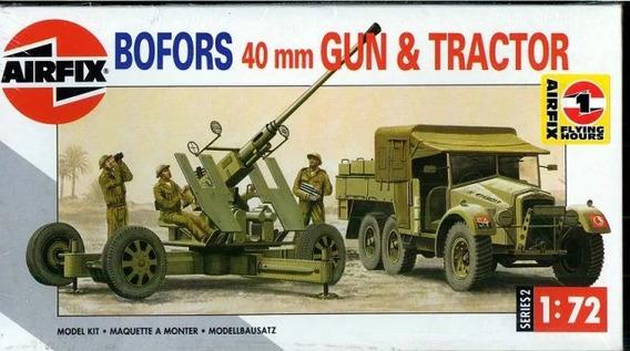Bofors 40mm Gun & Tractors Kit Plástico 1/72 Airfix 10 Vrdes