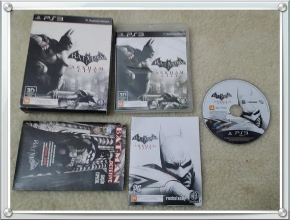Batman Arkham City Ps3 Edição Especial Com Luva E Hq (gibi)
