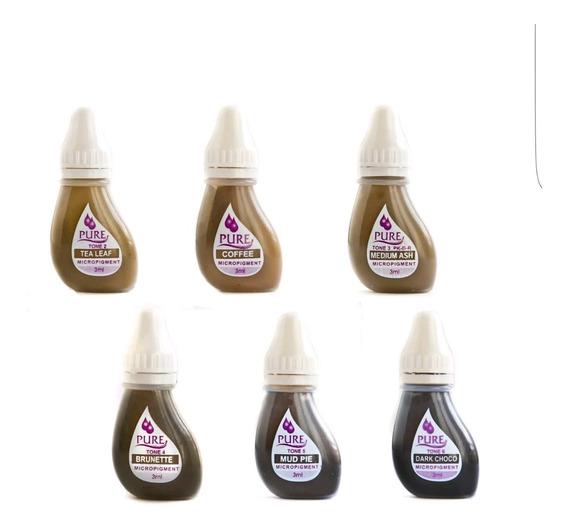 5 Microblading Pigmento Ceja Pure!!! Mejor Calidad