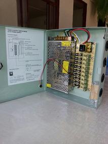 Rack Organizado Com Fonte Estabelizada 12v 10a P/ 9 Cameras.