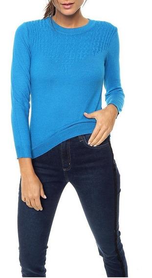 Sweater Hilo De Lycra Tranzado Forma V Talle Unico Nano 1905