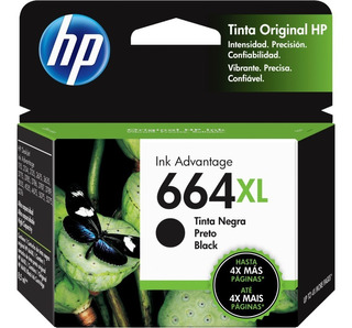 Cartucho Original Hp 664xl Negro F6v31al Mayorista Factura A