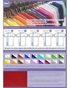 Pack Oferta X6 Remeras Lisas Dama - 100% Algodón