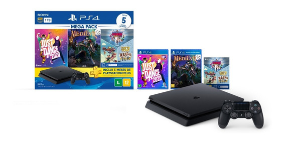 Console Playstation 4 Slim Hits Bundle 11 1tb Mega Pack