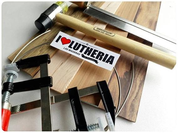 Combo De Herramientas Y Maderas Para Luthiers