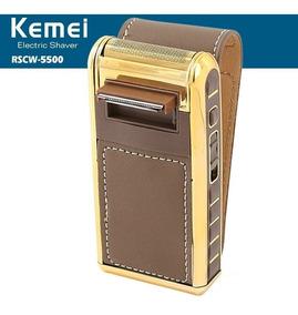 Barbeador Elétrico Máquina Shaver Kemei Km-5500 Bivolt Top