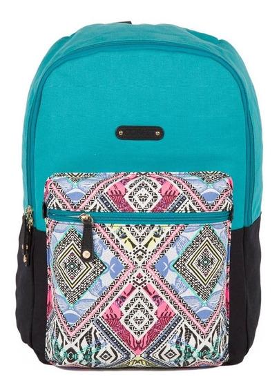 Mochila Juvenil Dama Porta Laptop Gorett Azul Gs17056-9