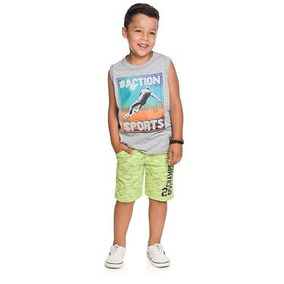 Camiseta Regata Machão Para Menino Brandili