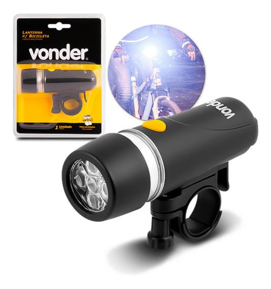 Lanterna Para Bike Bicicleta 5 Leds 20 Lúmens Farol Vonder