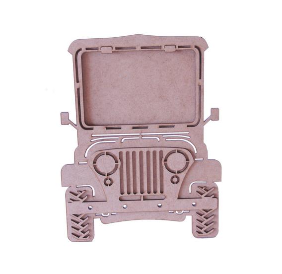10 Porta Retrato Jeep Mdf Lembrancinhas Decoração Safari