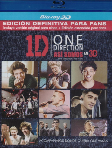 One Direction 1d Asi Somos Para Fans Pelicula Blu-ray 3d