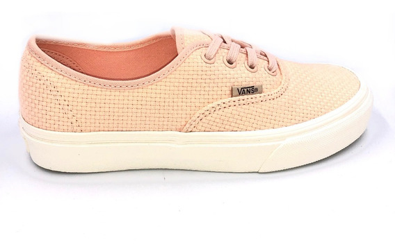 Tenis Vans Authentic Woven Check Coral Vn0a38emvkp Ruedestoy